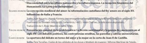 [IIBICRIT Seminario] Debates sobre el amor y la mujer en la ficción sentimental y la poesía cancioneril hispánicas