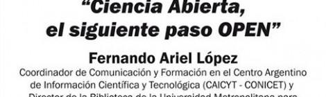 CONFERENCIA EN STREAMING :  CIENCIA ABIERTA, EL SIGUIENTE PASO OPEN