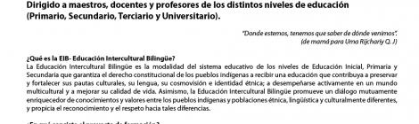 Curso de Educación Intercultural Bilingüe