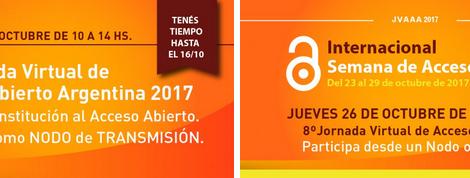 Jornada Virtual de Acceso Abierto Argentina 2017 #JVAAA2017