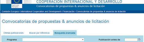 Plataforma de la Dirección General de Cooperación Internacional y Desarrollo de la UE