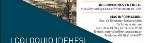 [IDEHESI]  06-09-2018 COLOQUIO IDEHESI- Primera circular