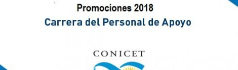 Resultados de la Convocatoria 2017 de Promociones de la Carrera del Personal de Apoyo
