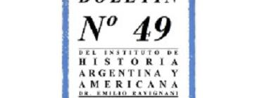 "[IHAYA] Número 49 del Boletín del IHAYA ""Dr. Emilio Ravignani"""